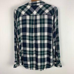 Rails Tops - Rails Hunter plaid Shirt green-white button down m